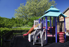 Childrens playground. Colorful childrens park playground safe area Stock Images