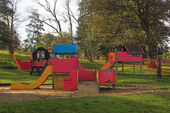 Childrens playground. Colorful childrens playground in a park Stock Photo