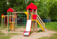 Childrens playground area Royalty Free Stock Photography