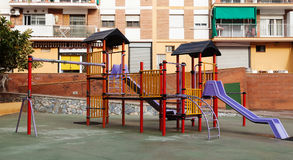 Childrens playground area in city Royalty Free Stock Photos