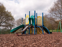 A Childrens Playground Cimbing Frame Multicolored and with vario Stock Images