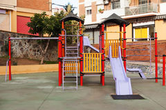Childrens playground  in city Stock Images
