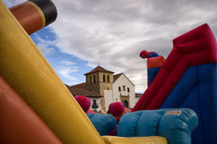 Childrens playground during fiesta in Villa de Leyva Stock Photography