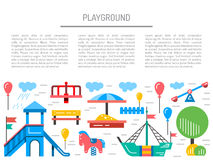 Childrens playground kindergarten Royalty Free Stock Photography