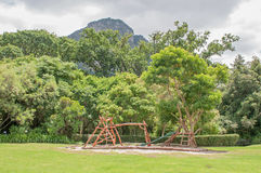 Childrens playground in the Kirstenbosch Botanical Gardens Royalty Free Stock Image