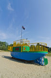 Childrens Playground Tugboat Pirate Ship Stock Photo