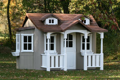 Childrens Playhouse. Children's playhouse in backyard country setting Stock Photography