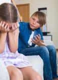 Children's quarrel indoor Royalty Free Stock Photos
