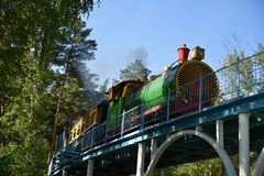 Childrens railway in Novosibirsk, Russia Stock Photography