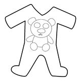 Childrens romper suit icon, isometric 3d style Royalty Free Stock Photos