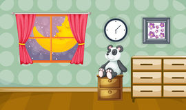 Childrens room. Illustration of a childrens room at night royalty free illustration