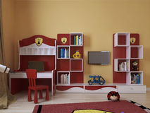 Childrens room in a modern style. Children's room in a modern style, 3d images Royalty Free Stock Image