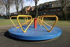 Childrens Roundabout. Roundabout in Play Park Royalty Free Stock Image