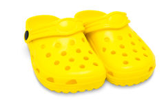 Childrens rubber sandals Stock Images