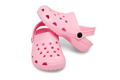 Childrens rubber sandals Royalty Free Stock Photos