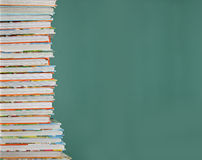Childrens school books. Tall stack of childrens school books Stock Photography