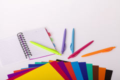 Childrens school supplies Stock Images