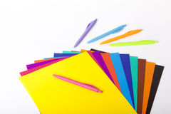 Childrens school supplies Stock Image