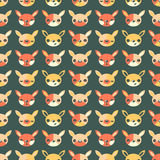 Childrens seamless pattern with hares. On dark background Royalty Free Stock Image