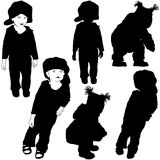 Childrens Silhouettes 07 Stock Images