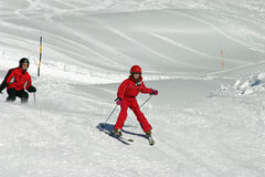 Childrens ski race Stock Photography