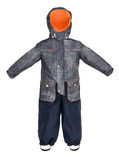 Childrens snowsuit fall Stock Images
