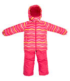 Childrens snowsuit fall Royalty Free Stock Images