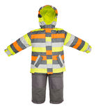 Childrens snowsuit fall Royalty Free Stock Photo