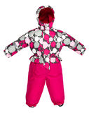 Childrens snowsuit fall Royalty Free Stock Photos