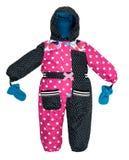 Childrens snowsuit fall stock photos