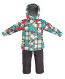 Childrens snowsuit fall Stock Photography