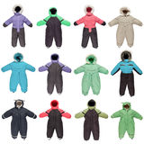 Childrens snowsuit fall and winter clothes Royalty Free Stock Photography