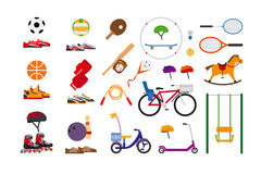 Childrens sports equipment Royalty Free Stock Images