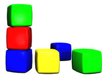 Childrens toy building blocks Stock Images
