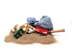 Childrens toy garden tools Royalty Free Stock Images