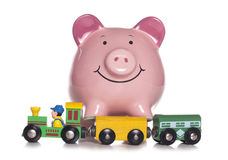Childrens toy with piggy bank Stock Image