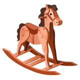 Childrens toy rocking horse of wood, vector Royalty Free Stock Photo