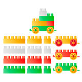 Childrens Toys. Constructor illustration royalty free illustration