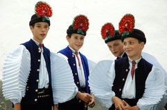 Childrens in traditional hungarian clothes Royalty Free Stock Photo