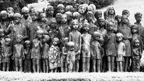 The Childrens War Victims Monument in Lidice Stock Photography
