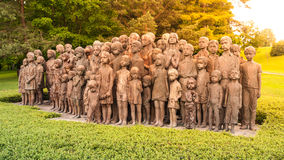 The Childrens War Victims Monument in Lidice Royalty Free Stock Photo