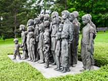 The Childrens War Victims Monument in Lidice Stock Photos
