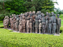 The Childrens War Victims Monument in Lidice Stock Images