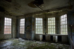 Childrens ward in abandoned mental asylum Stock Photo