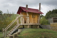 Childrens wooden playhouse Stock Photos