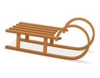 Childrens wooden sleigh stock vector illustration vector illustration