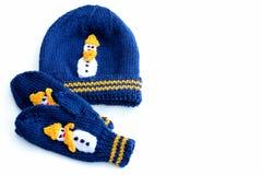 Childrenss帽子和手套 免版税库存照片