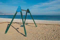 childrenw的海滩设备 图库摄影