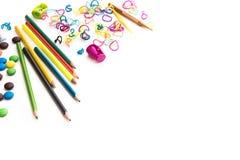 Childres Bonbons und Material Lizenzfreie Stockfotos
