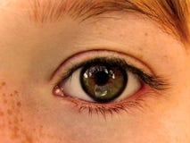 Childs öga Fotografering för Bildbyråer